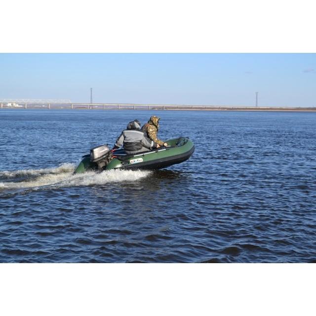 Лодка Sun Marine SA-420 IB, цвет темно зеленый