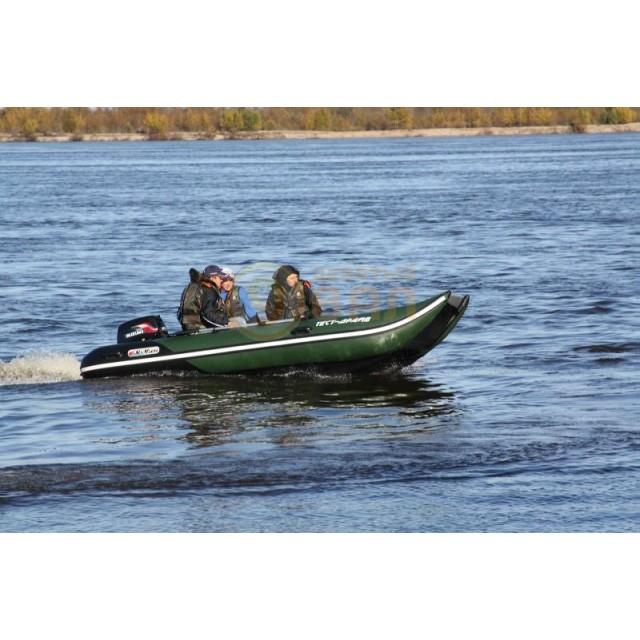 Лодка катамаран Sun Marine SH-330, цвет темно зеленый