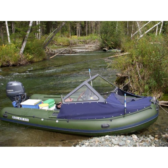 Лодка Solar-555, МК, темно-зеленый
