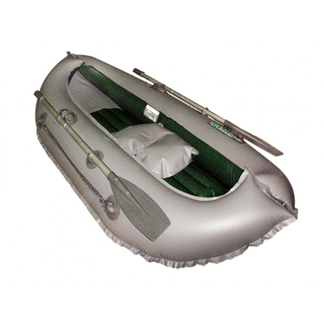 Лодка Скиф 1LUX цвет серый/оливковый