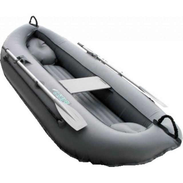 Лодка Скиф 2LUX цвет серый