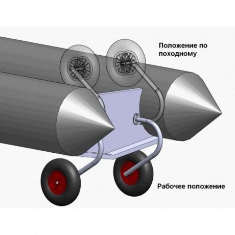 """Комплект колес транцевых на НЛ типа """"Солар"""" 330 мм"""
