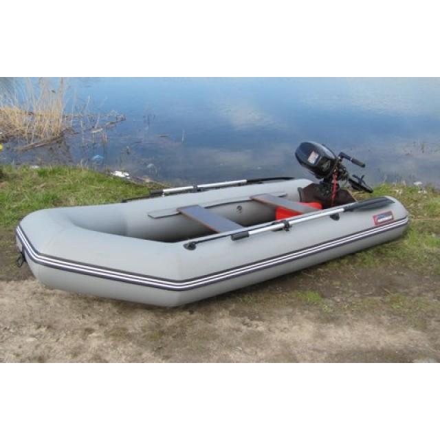 Лодка Хантер 290 ЛН, цвет серый