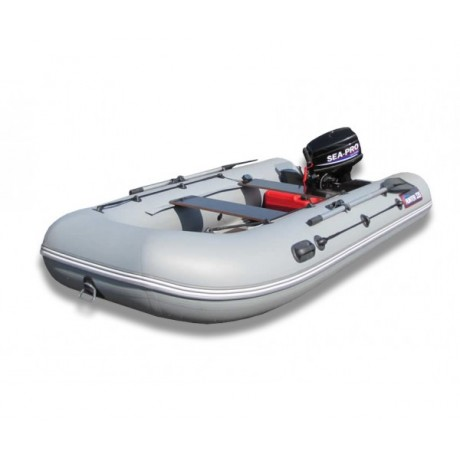 Лодка Хантер 335, цвет серый