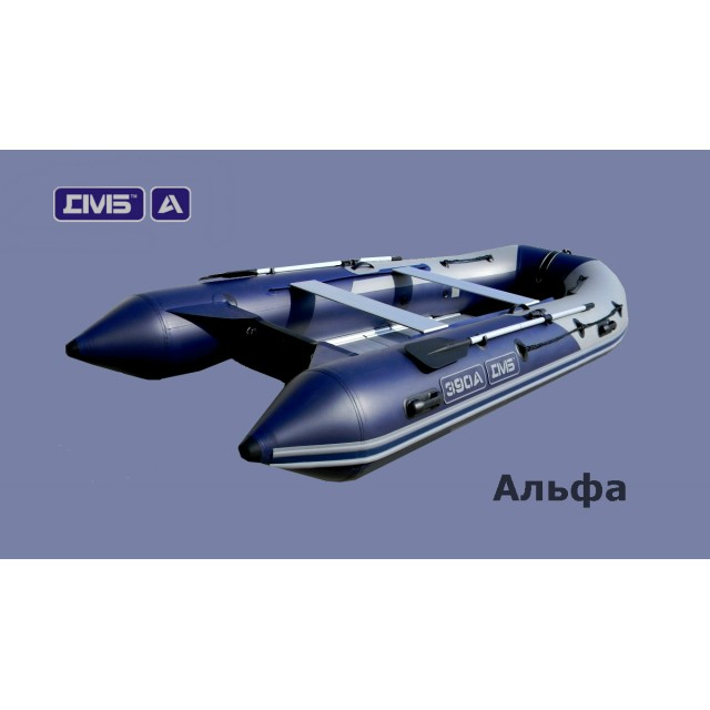 Лодка с алюминиевой палубой ДМБ Альфа 450