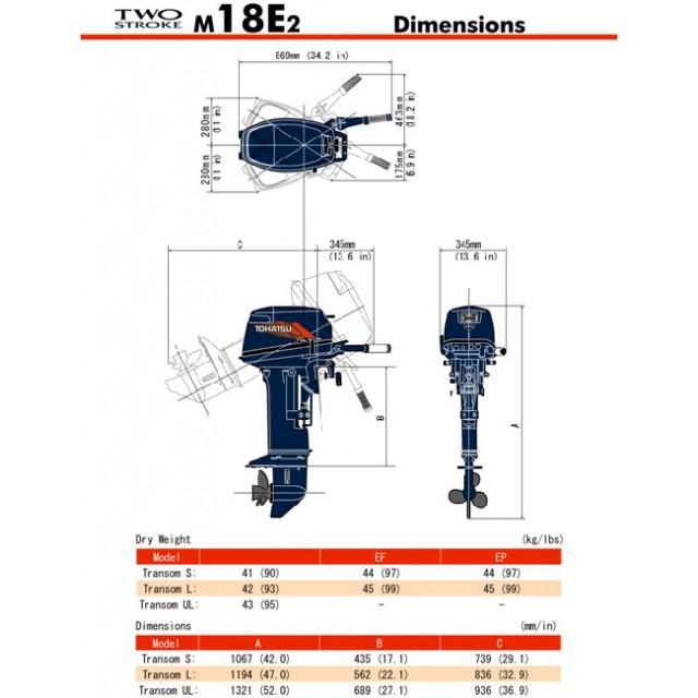 Мотор Tohatsu M18E2S