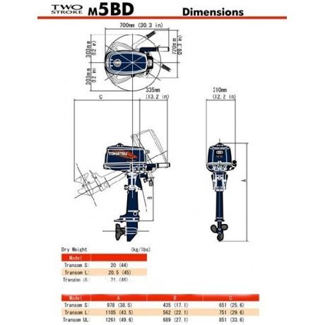 Мотор Tohatsu M5 S