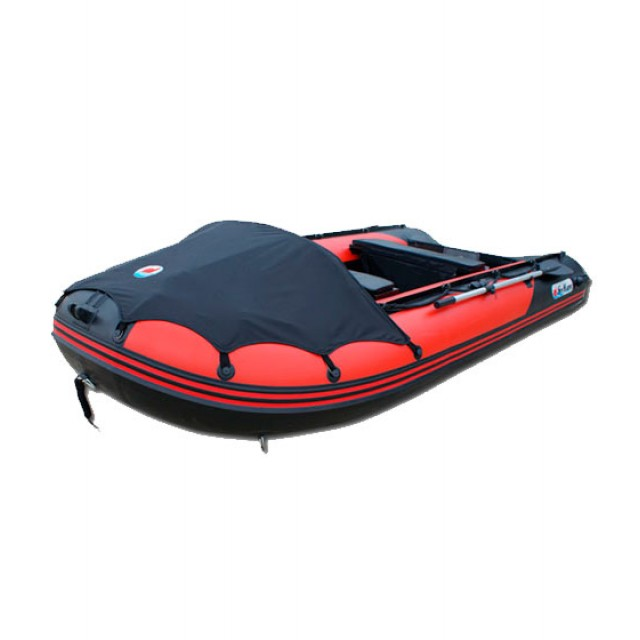 Лодка Sun Marine SDP 420, цвет красно черный
