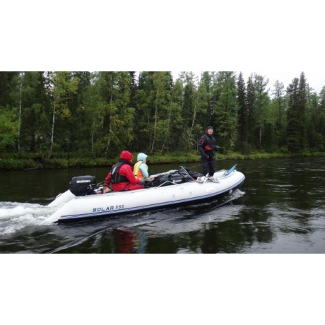 Лодка Solar-555, МК, светло-серый